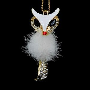 Darling Fluffy Fox Pendant NWT